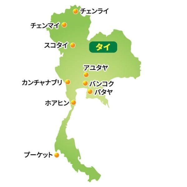 タイ 地図